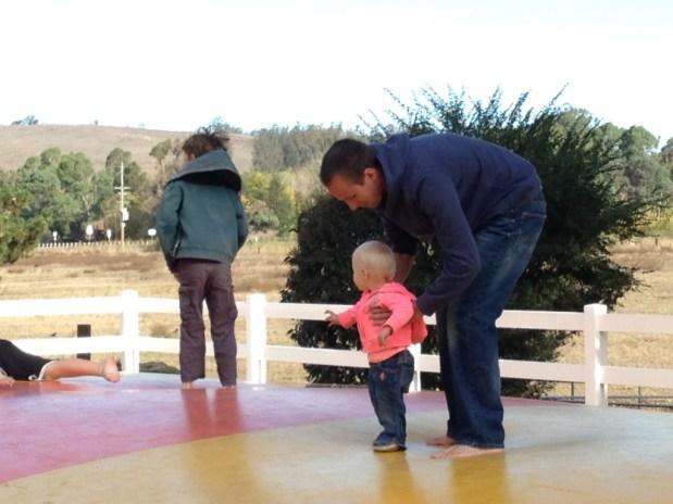 Jumping at the KOA campground in Petaluma
