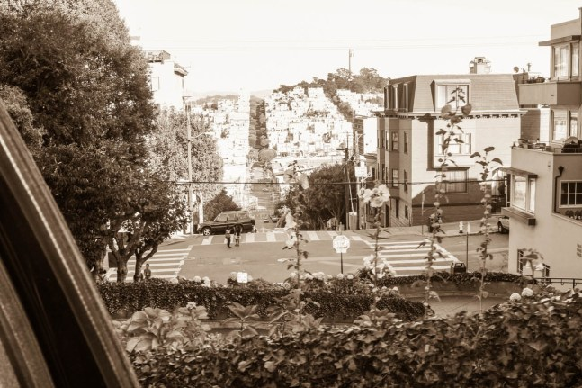 Coming down Lombard St.