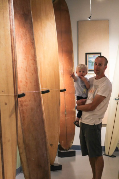 First wood surfboards