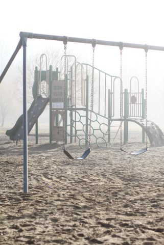 Foggy swings in Windermere