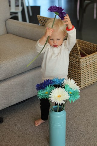 Flower arranger, perhaps a future career.