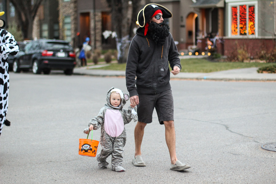Josh and Ry, hitting the streets for candy.