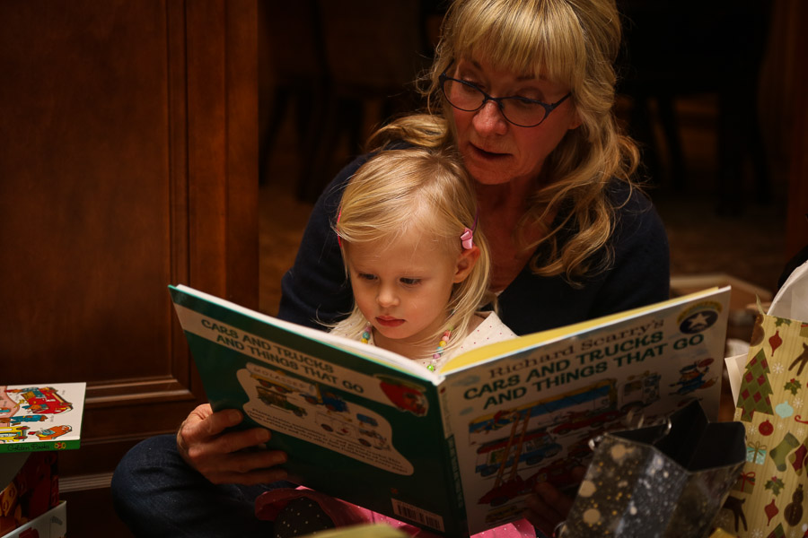 Grandma and Ry reading her new books