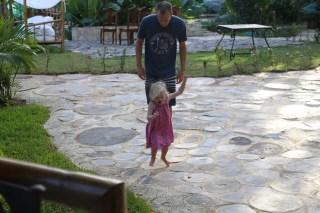 Playing jump rock with Josh