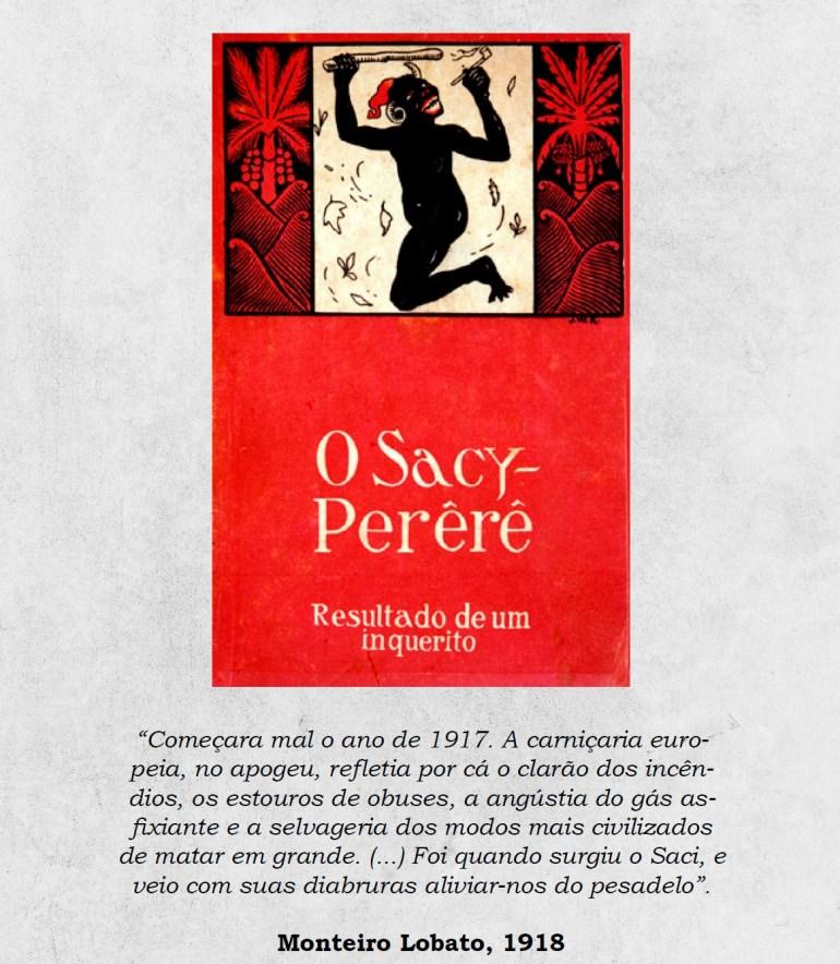 """Reprodução da capa do livro """"O Sacy-Perêrê: Resultado de um Inquerito""""."""