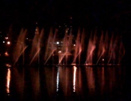 Águas dançantes no parque Ibirapuera