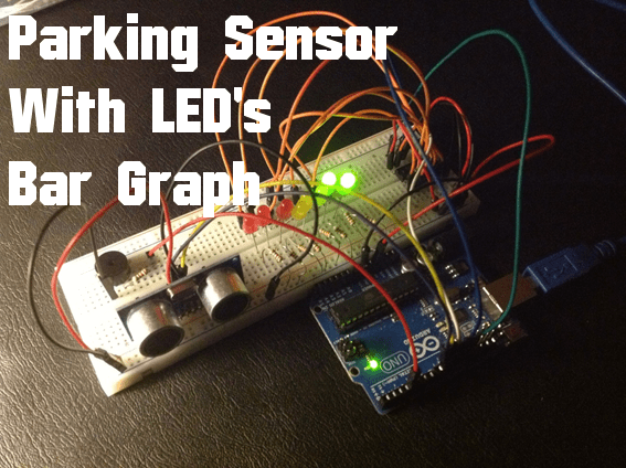 Arduino - Ultrasonic Sensor with LED's and buzzer | Random