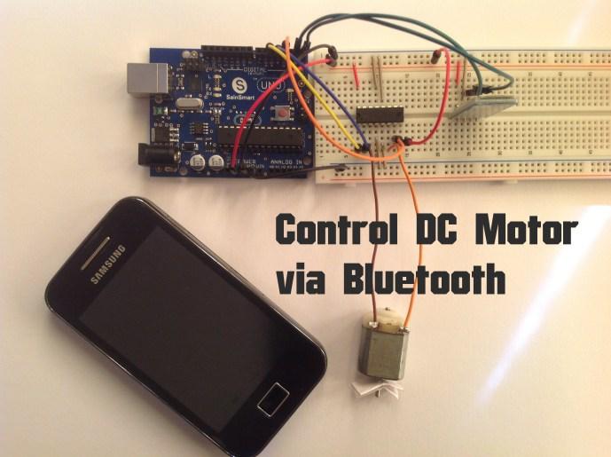 Arduino control dc motor via bluetooth random nerd