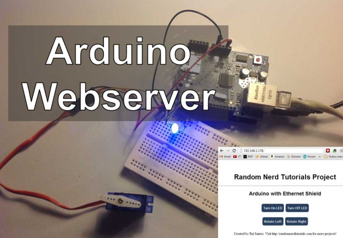 Arduino - Webserver with an Arduino + Ethernet Shield