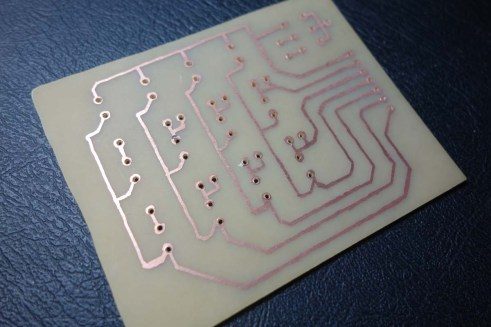PCB back drilled
