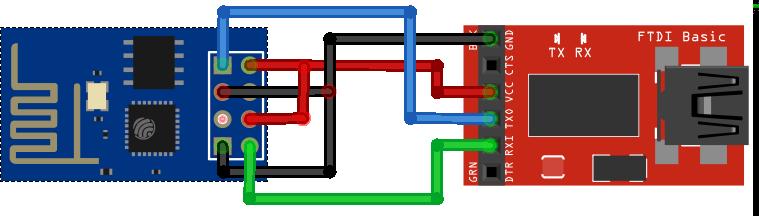 ESP8266 ESP-01 FTDI Programmer Flashing Firmware Circuit