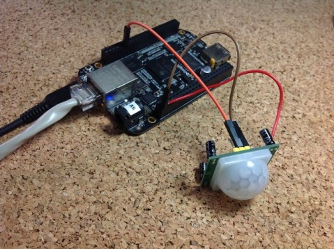 beaglebone black pir motion sensor