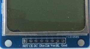 Nokia 5110 LCD pinout