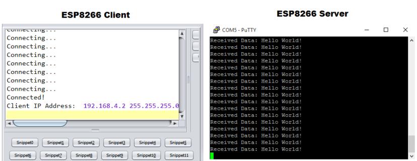 data received esp8266