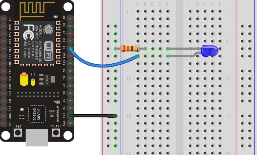 ESP8266 NodeMCU board Blinking an LED with Arduino IDE