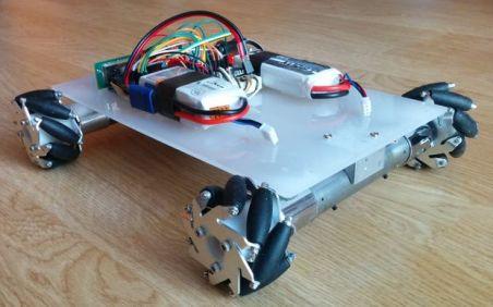 mecanum wheel robot bluetooth