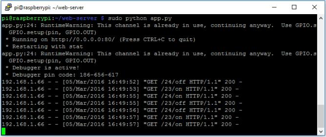 python launch web server