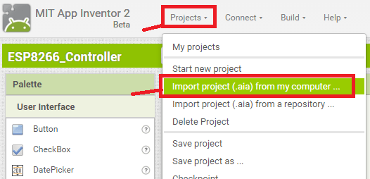 aia file import