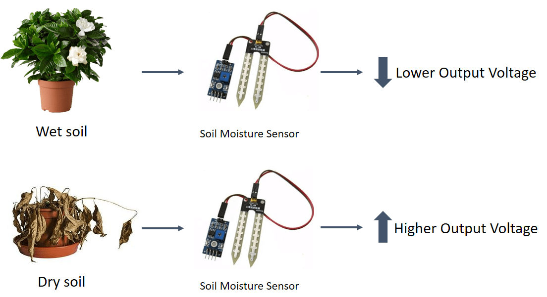 Circuit Diagram Of Soil Moisture Sensor | Soil Moisture Sensor Learning Resourses