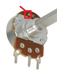 Potentiometer Logarithmic Taper Type A