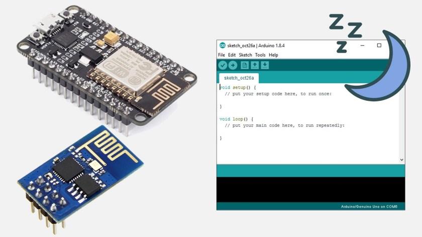 ESP-01 ESP8266 NodeMCU Deep Sleep with Arduino IDE