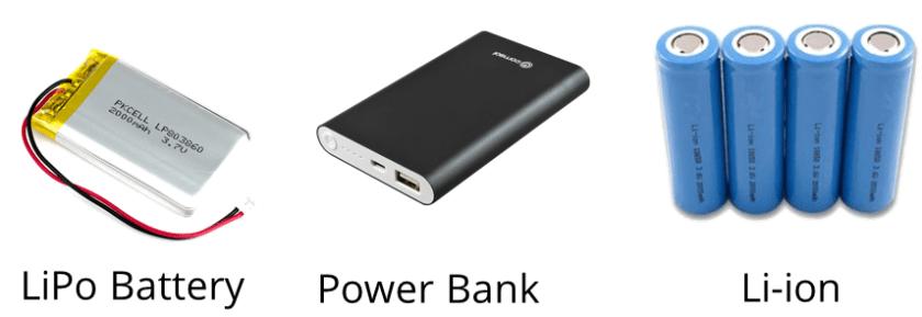 Portable Power Sources ESP8266 ESP32