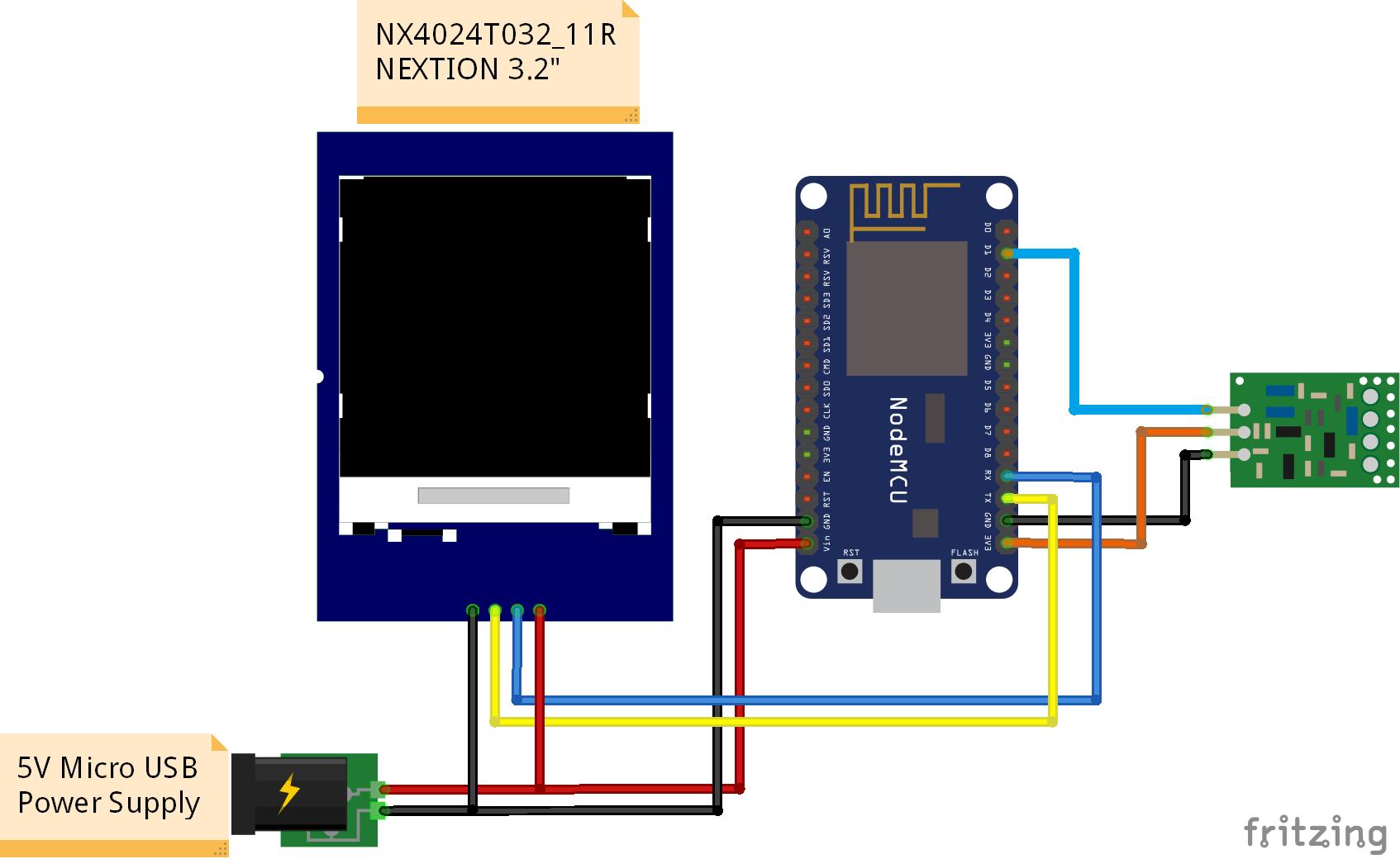 nextion display with esp8266 ui node
