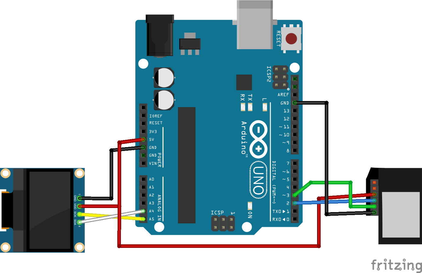Fingerprint Sensor Module With Arduino Random Nerd Tutorials Level Transmitter Wiring Diagram Heres The You Should Follow To Make Circuit For This Project