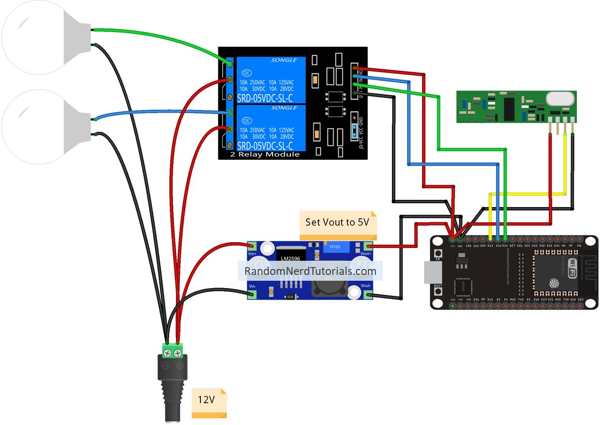 Echo Switch Wiring Diagram Change Your Idea With 4 Way Alexa Esp32 And Esp8266 Random Nerd Tutorials Rh Randomnerdtutorials Com