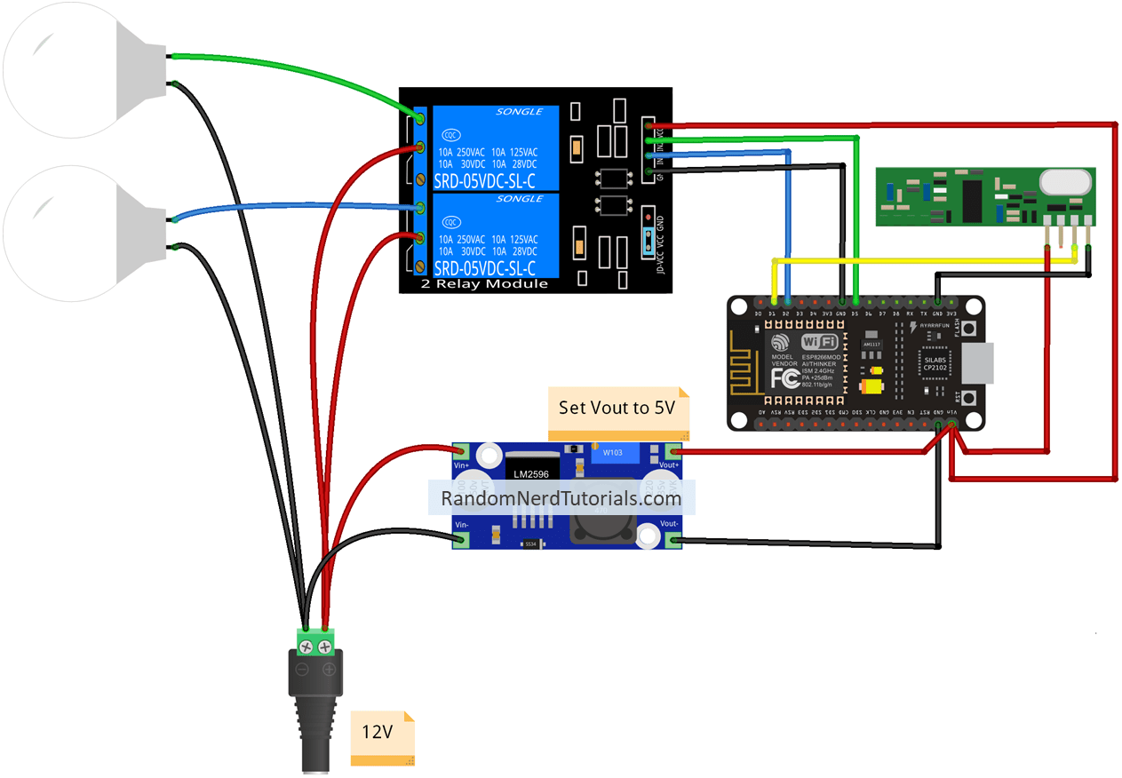 12v 14 pin relay wiring diagram alexa  echo  with esp32 and esp8266 random nerd tutorials  alexa  echo  with esp32 and esp8266 random nerd tutorials