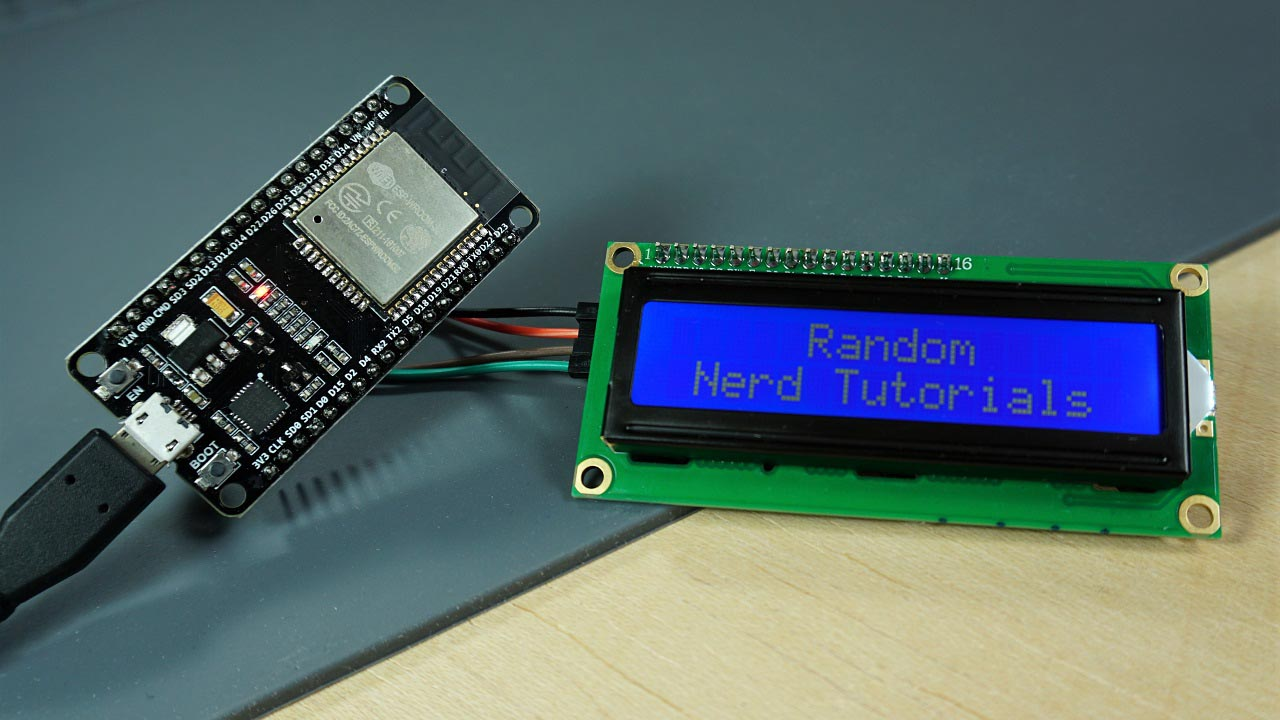 2x16 LCD with I2c Chip for easy hookup
