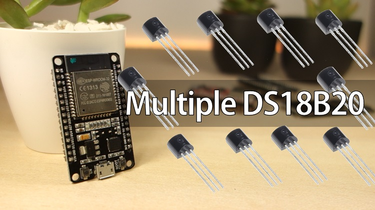 ESP32 with multiple DS18B20 temperature sensors Arduino IDE