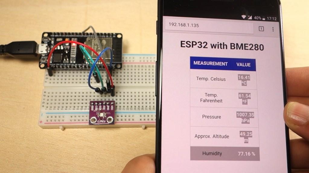 Roger F Dupuis - ESP32 Web Server with BME280 – Mini Weather