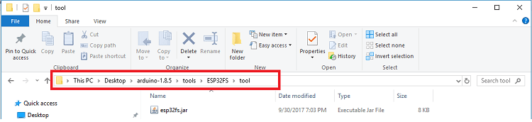 Arduino IDE Tools to Install ESP32 SPIFFS Filesystem fs