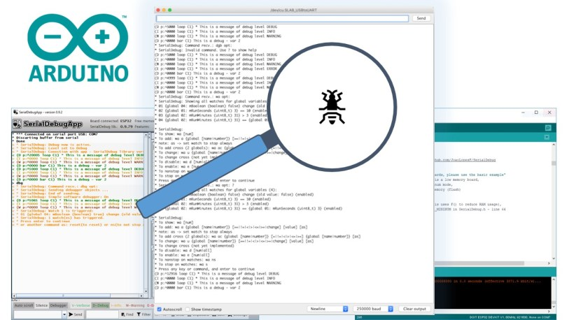 Better Debugging for Arduino IDE using Software Debugger