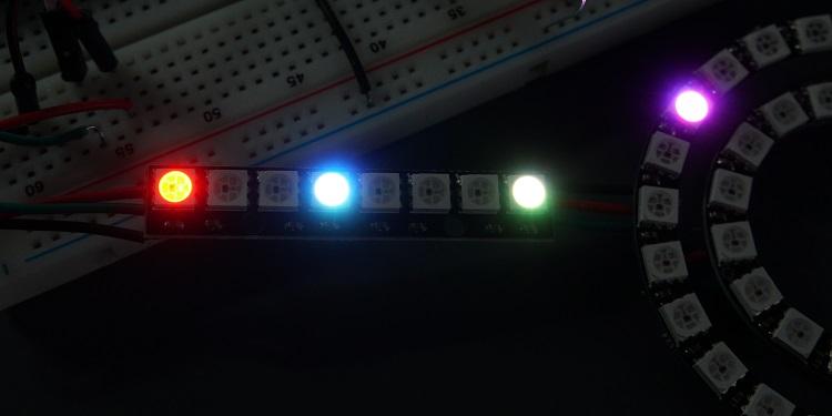 ws2812b control individual pixels micropython