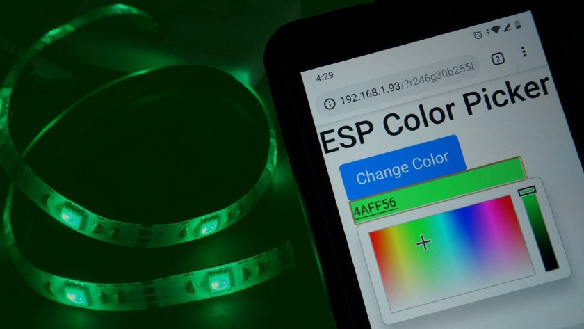 ESP32 or ESP8266 RGB LED Strip with Color Picker Web Server