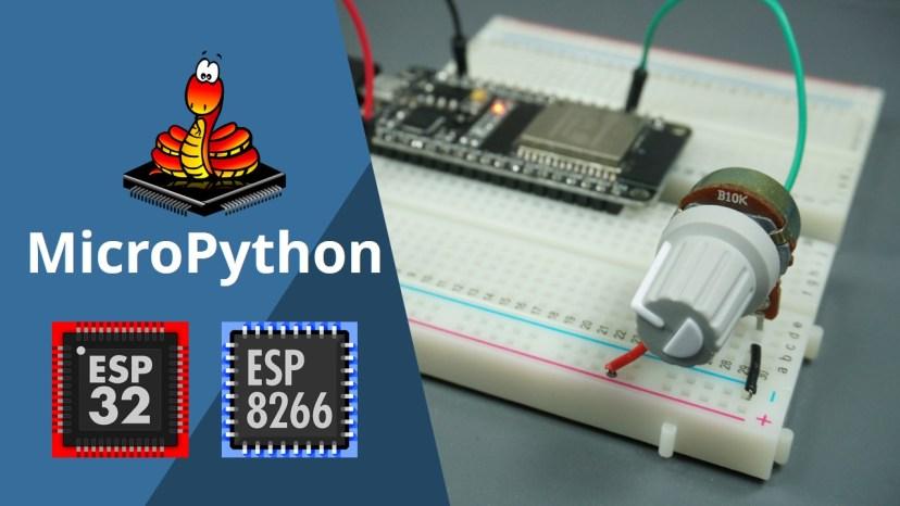 ESP32 ESP8266 Analog Readings with MicroPython