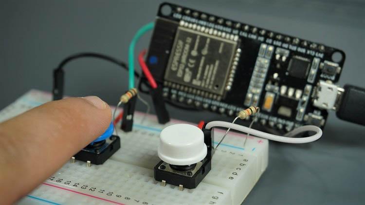 ESP32 micropython external wake up ext1