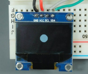 ESP32 ESP8266 Arduino OLED Display Circle Filled