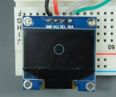 ESP32 ESP8266 Arduino OLED Display Circle