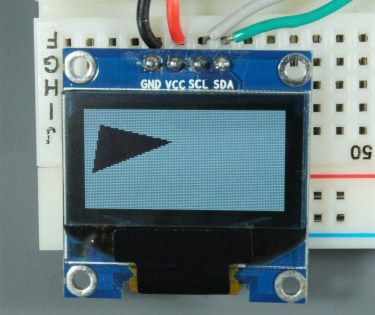ESP32 ESP8266 Arduino OLED Display Triangle Background filled