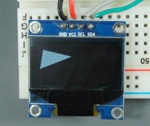 ESP32 ESP8266 Arduino OLED Display Triangle Filled