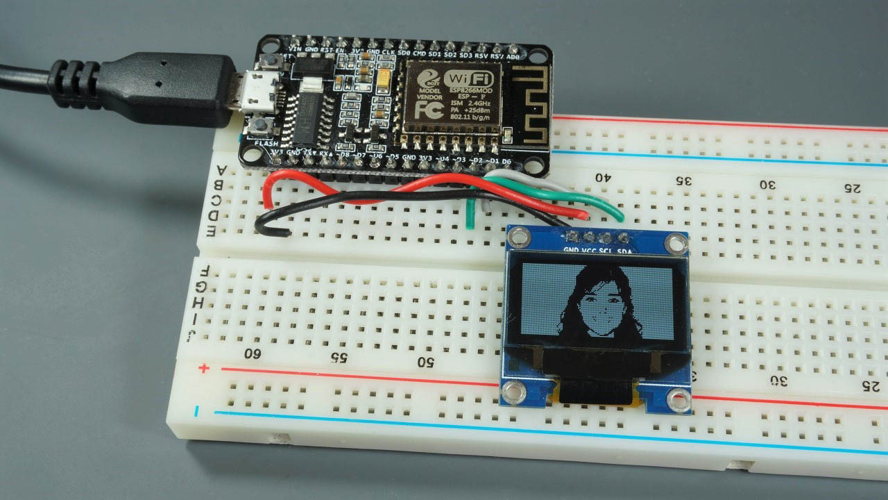 ESP8266 Arduino OLED Display Image circuit
