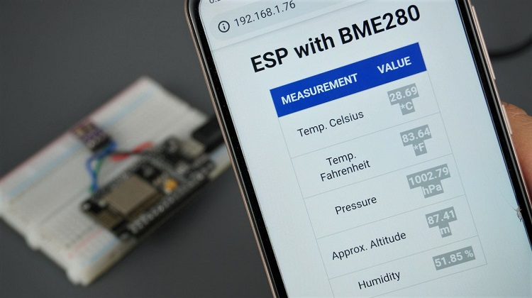Display BME280 Readings on Web Server with ESP32 or ESP8266
