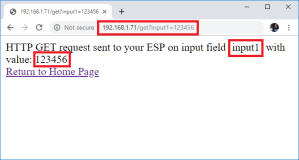 ESP32 ESP8266 HTML Form Input Data demonstration