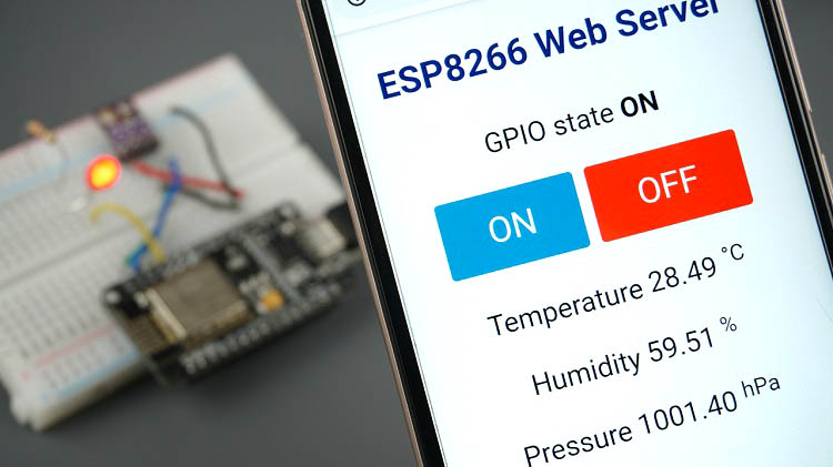 ESP8266 Web Server using SPIFFS page HTML CSS Demonstration