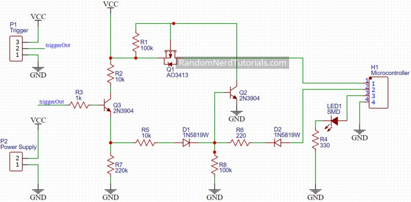 Auto Power Off Latching Power Circuit Schematic Design