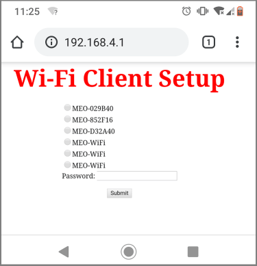 Wi-Fi Client Setup WiFi Manager MicroPython