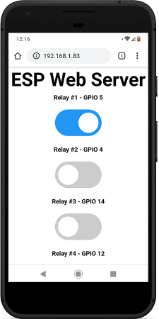 Control Multiple Relays with ESP8266 Web Server